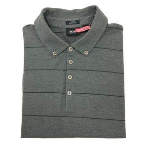 HUGO BOSS XL Extra Large Slim Fit Polo Shirt Gray